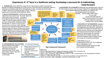 Experiences of 2nd harm in a healthcare setting: developing a