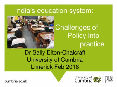 India's education system: challenges of policy into practice